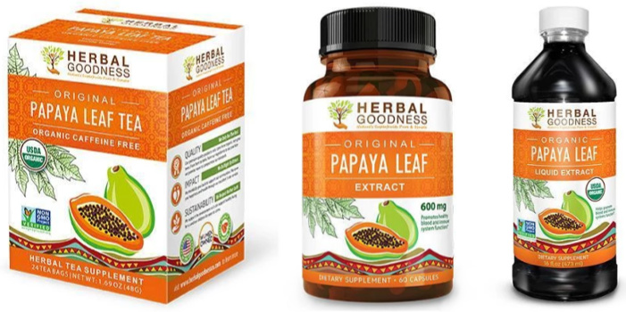 Herbal Papaya Leaf Extract Supplements