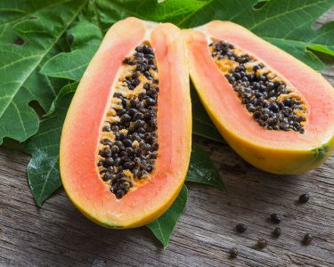 Papaya leaf and seeds