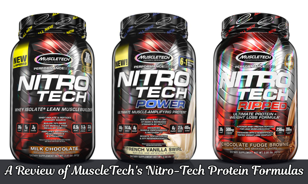 Review of MuscleTech Nitro-Tech Protein Formulas