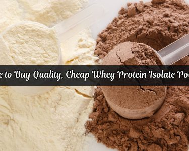 Plain and chocolate flavored whey protein isolate powder